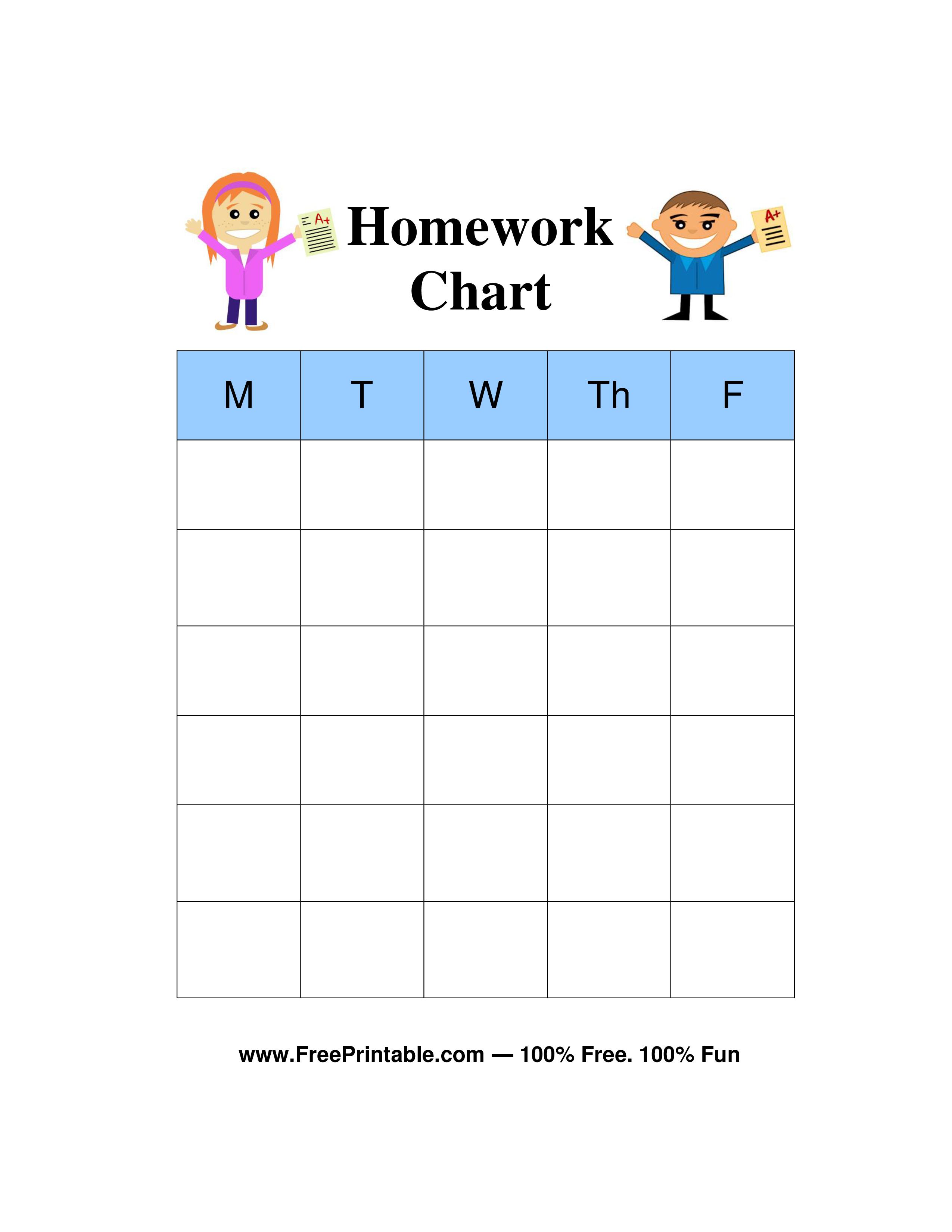 HD wallpapers printable weekly chore chart