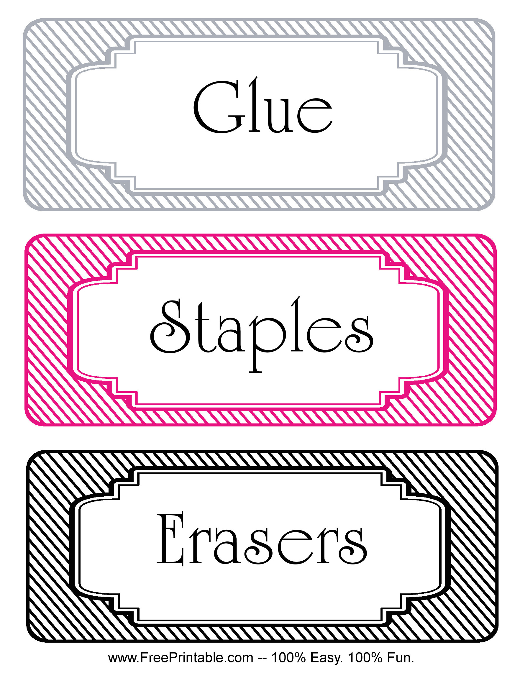 Customize your free printable striped classroom labels staples for Can you print stickers at staples
