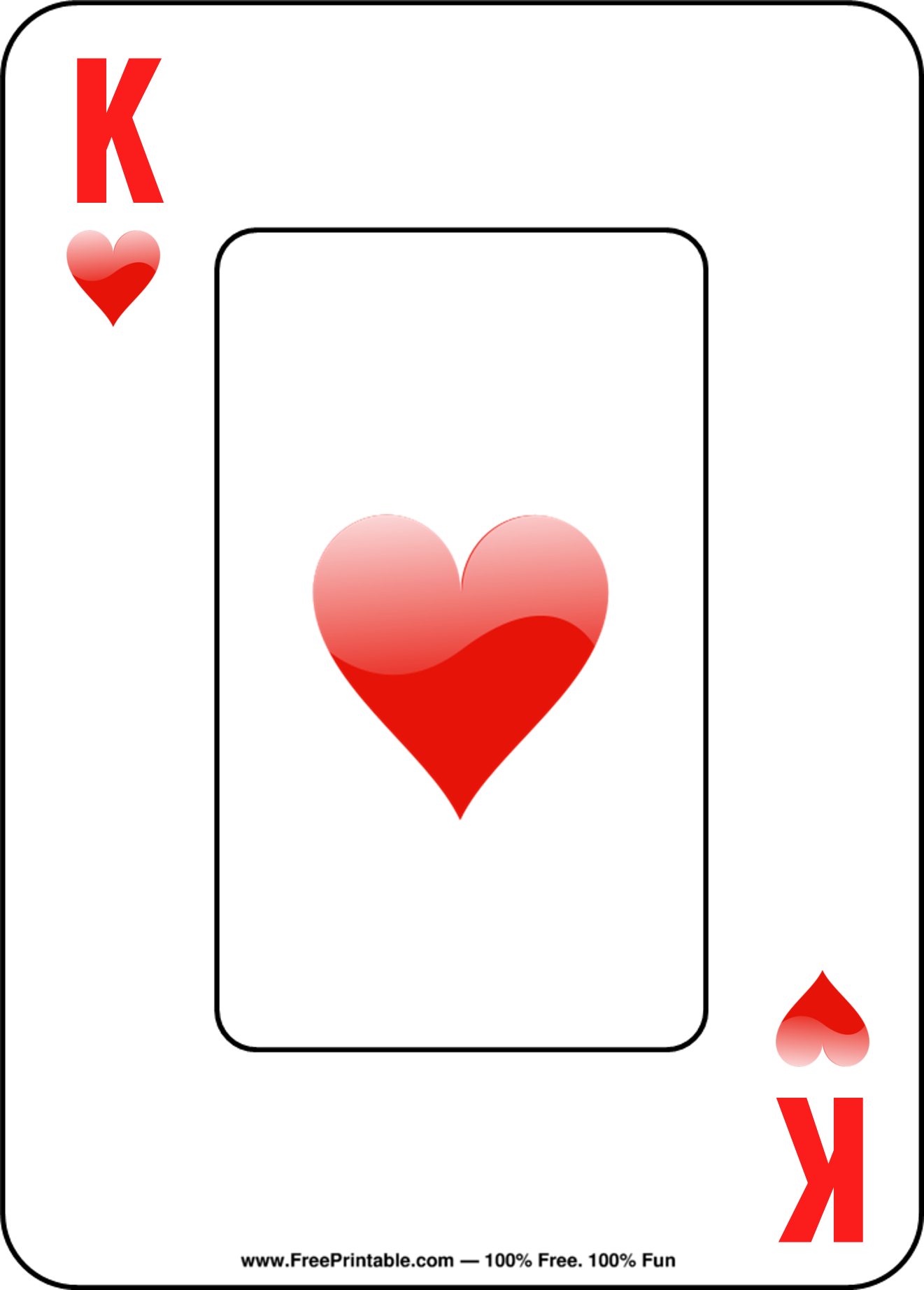 image regarding Printable Playing Cards known as Cost-free Printable Actively playing Playing cards