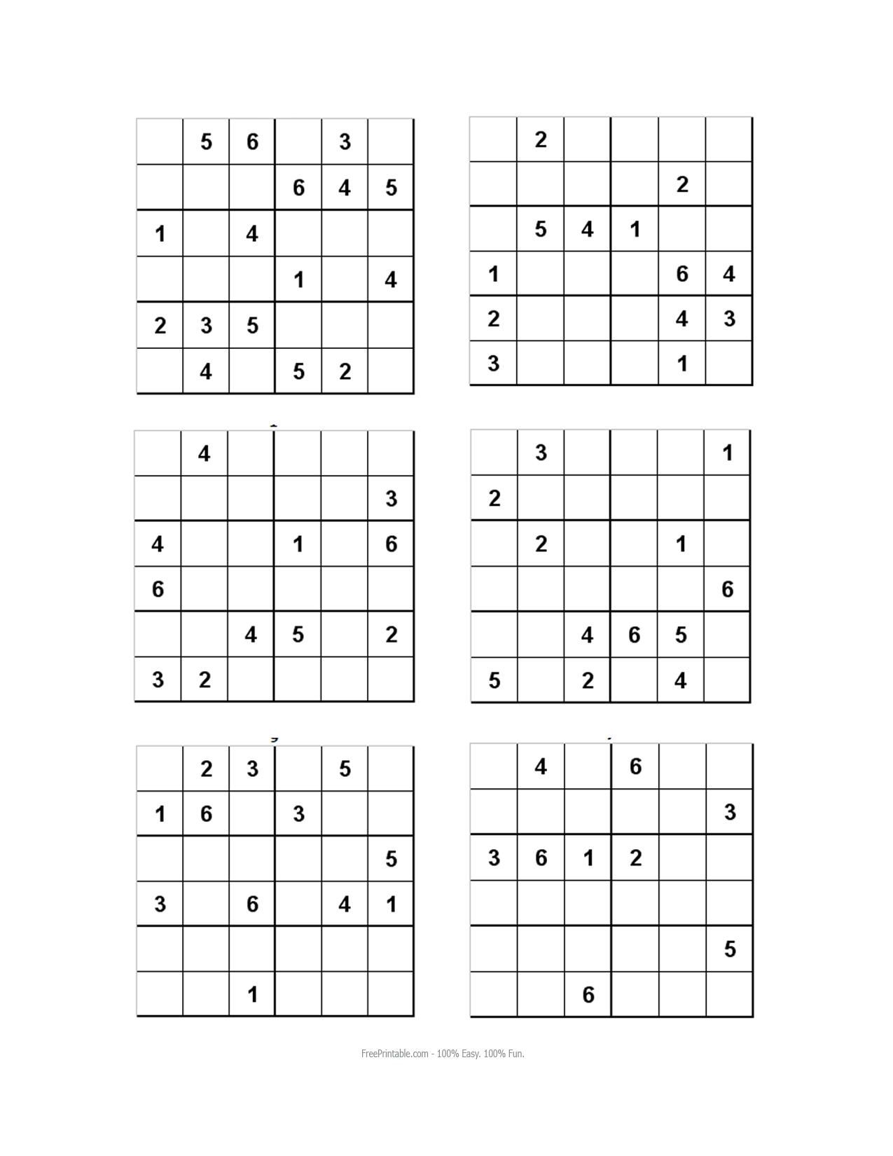 photo about 6x6 Sudoku Printable named SUDOKU SOLVER 6X6