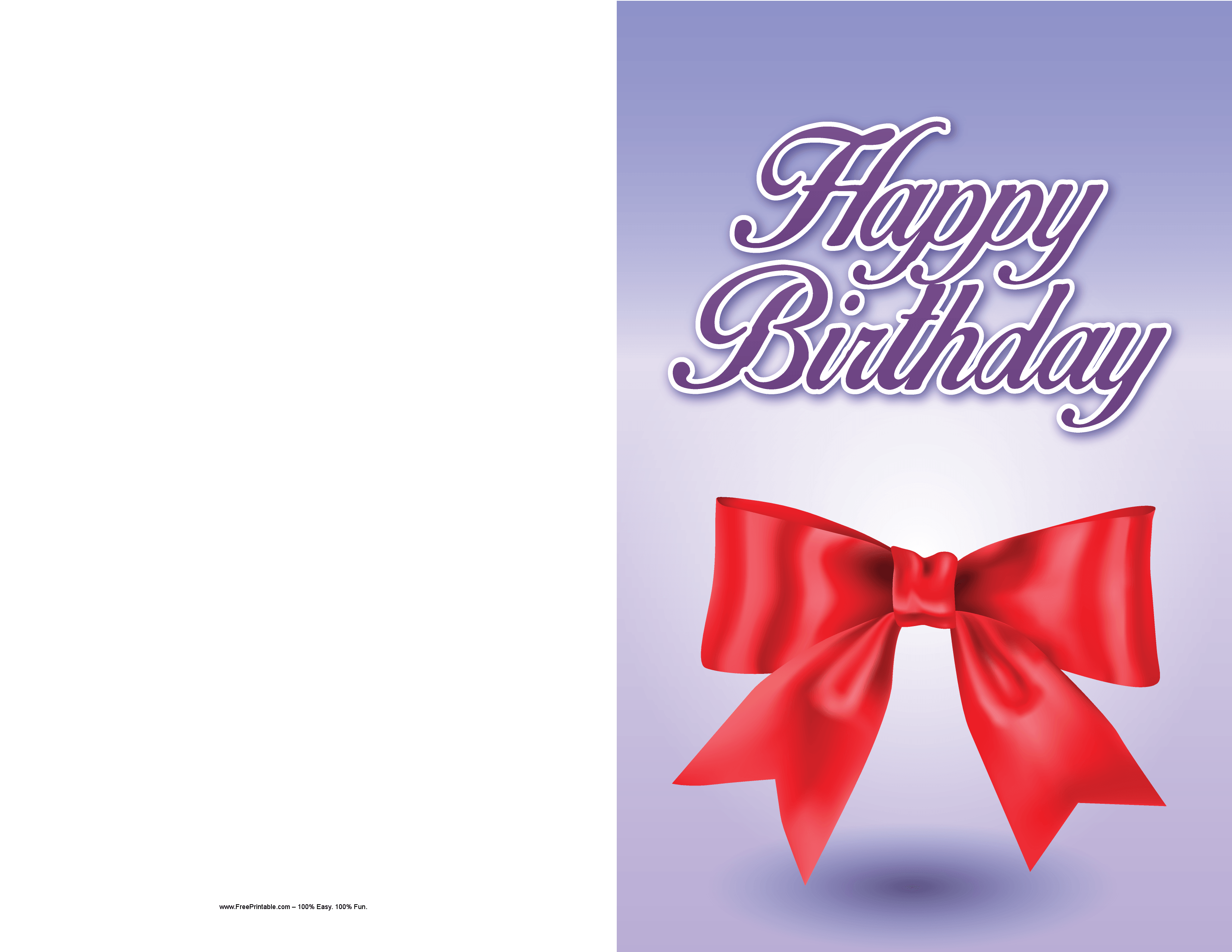 Printable Birthday Ribbon ~ Customize your free printable ribbon birthday card