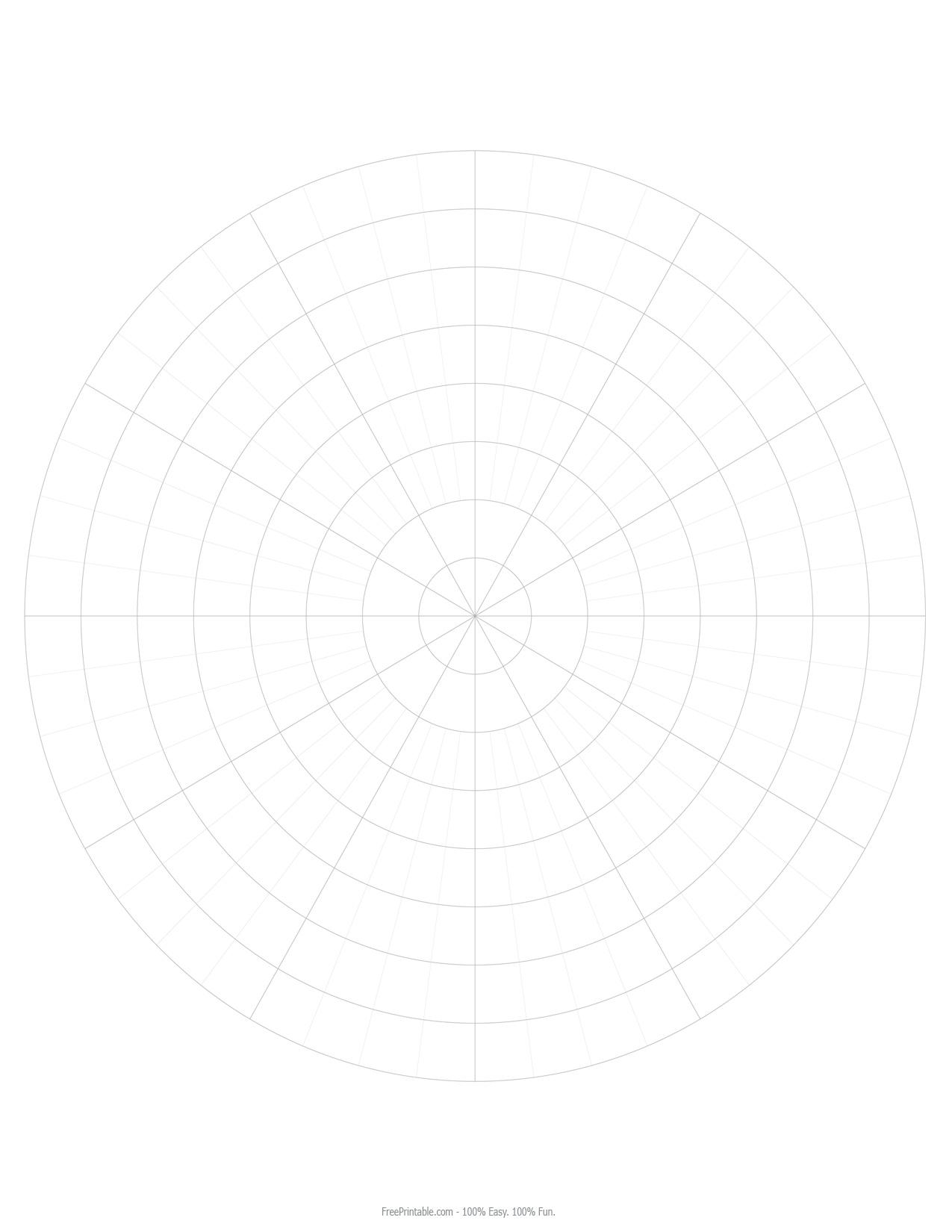 Polar Graph Paper Print