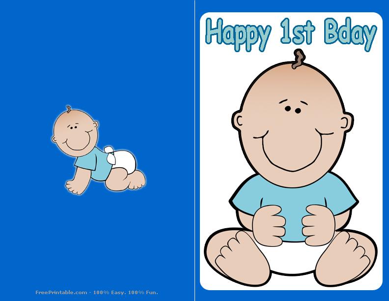 1st Birthday Card Boy Boy First Birthday Card