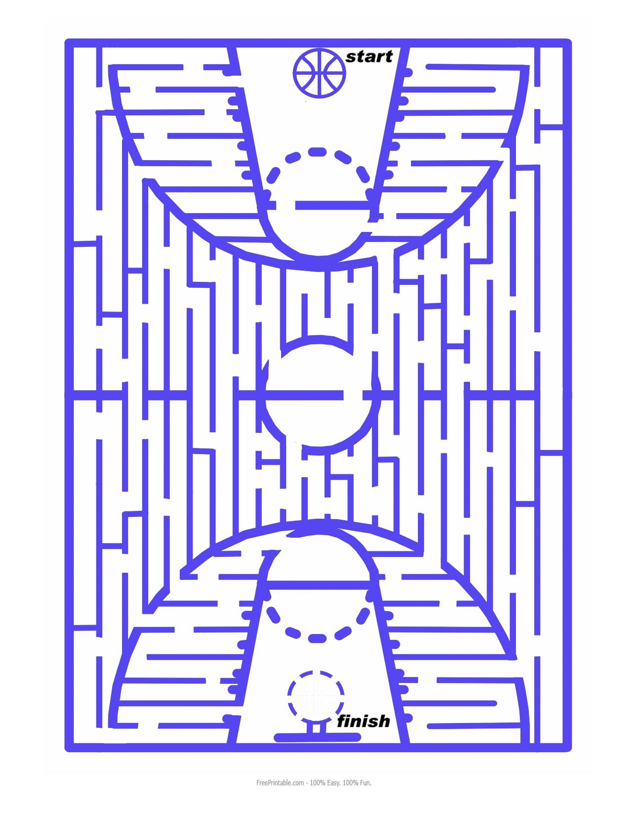 maze free printable basketball maze puzzlemania free printable ...