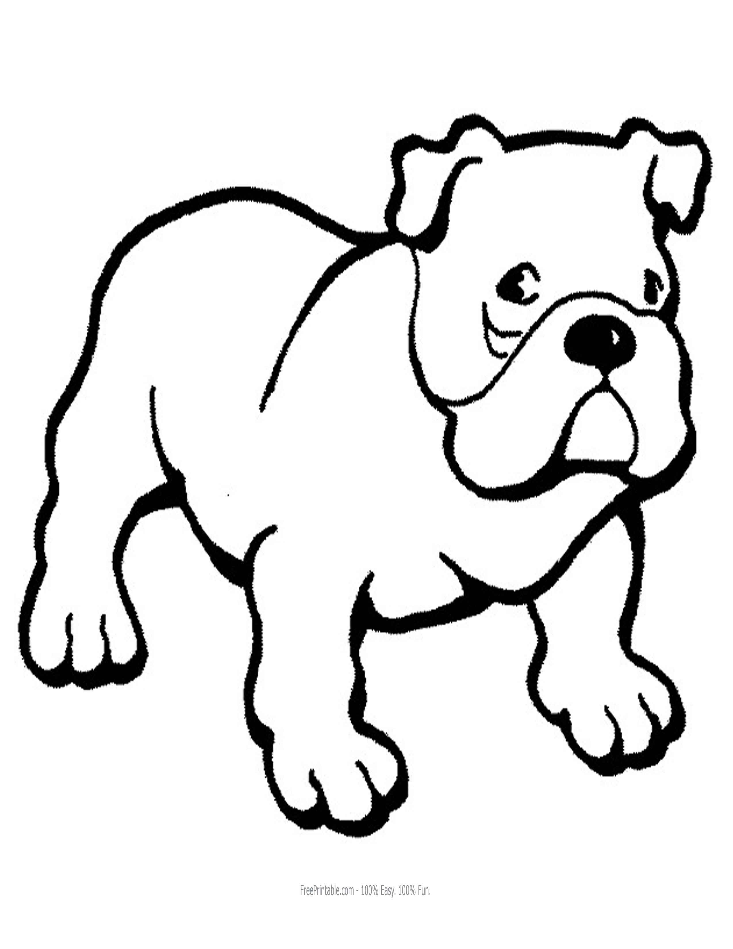 bulldogs coloring pages - photo#32