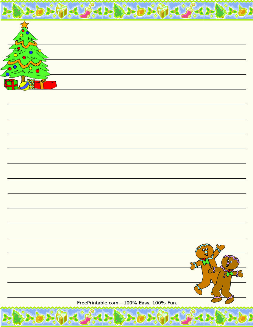 Christmas writing paper