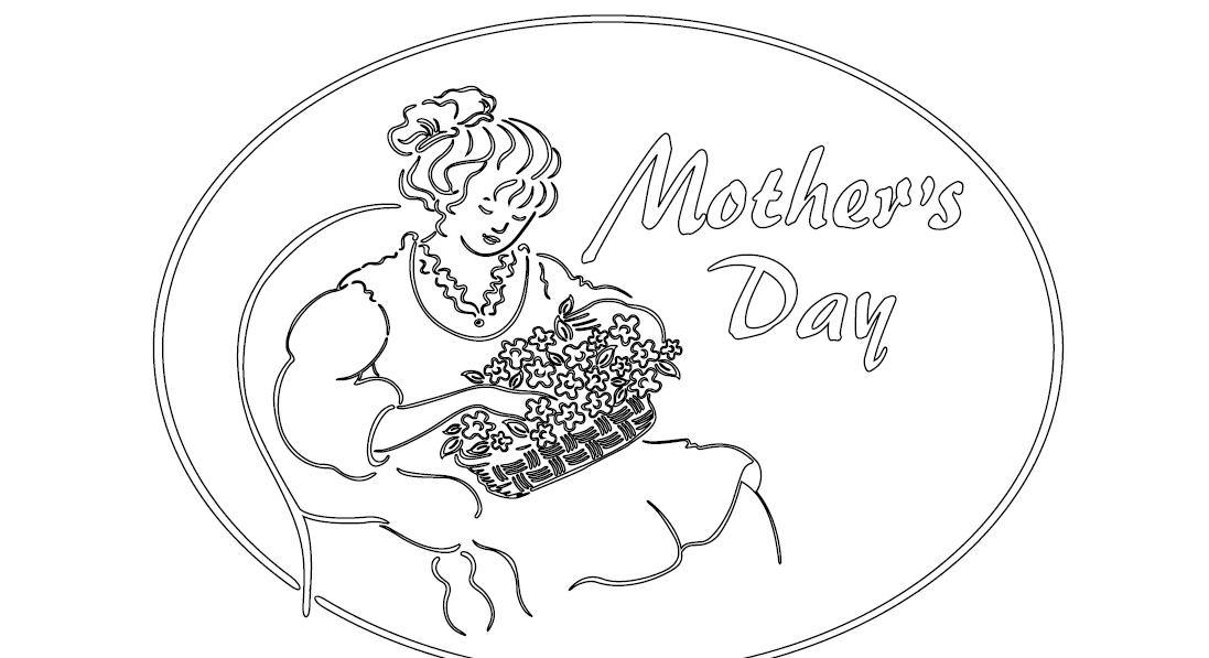 mothers day flowers colouring. Print - Coloring Mother#39;s Day