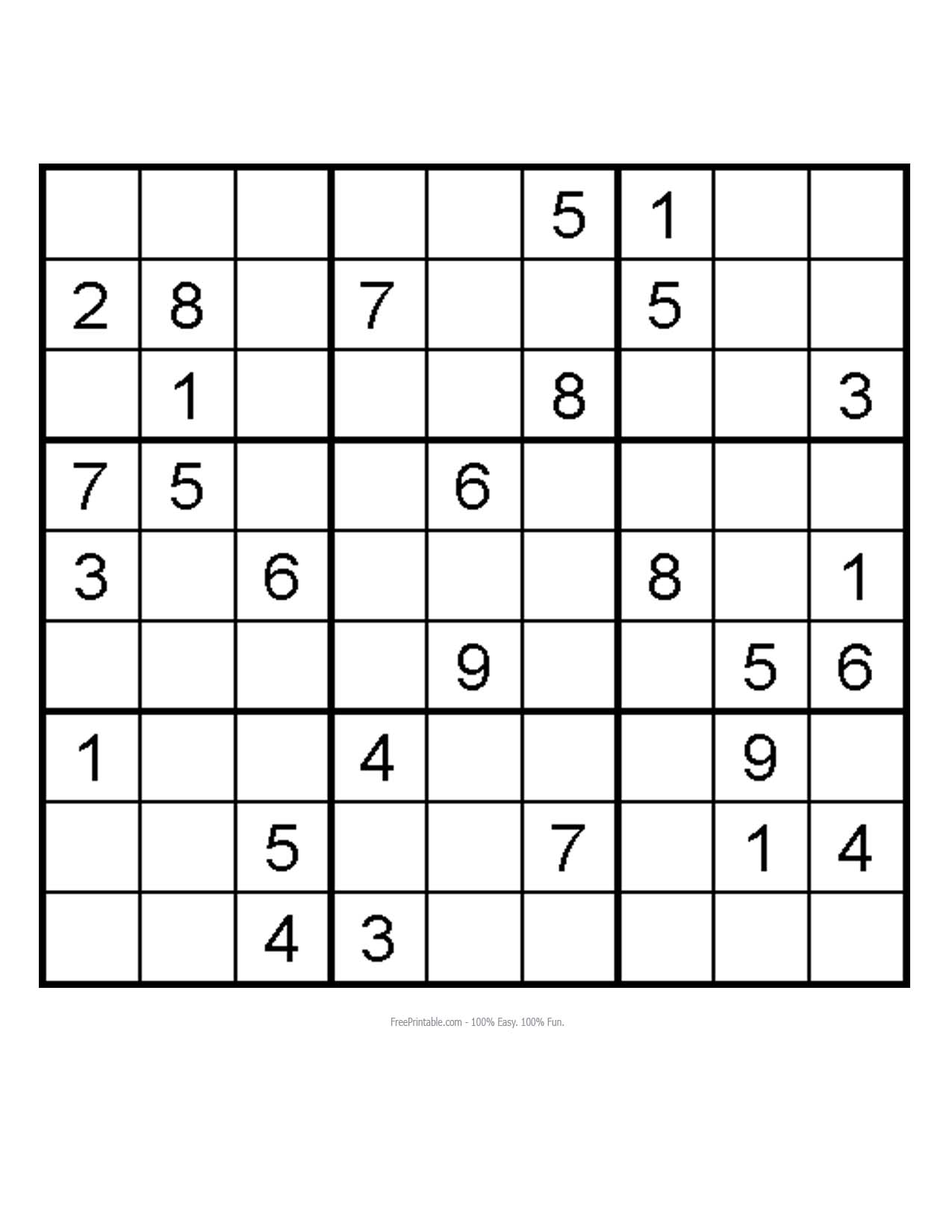 how to make an easy sudoku puzzle