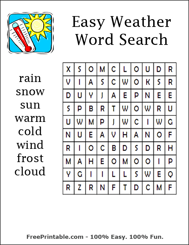 Easy Large Print Word Search Printable Easy Large Print Word Search