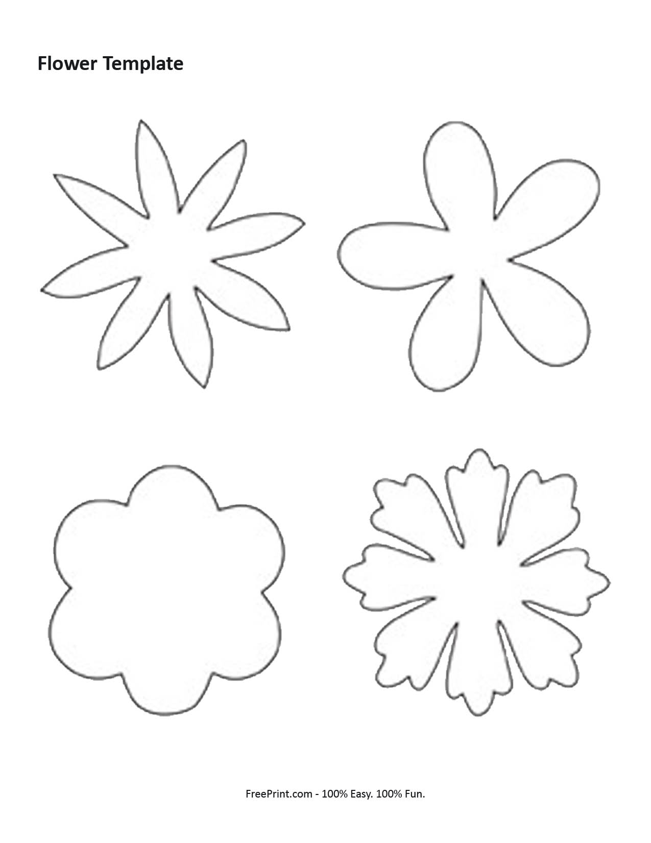 Print - flower shaped template