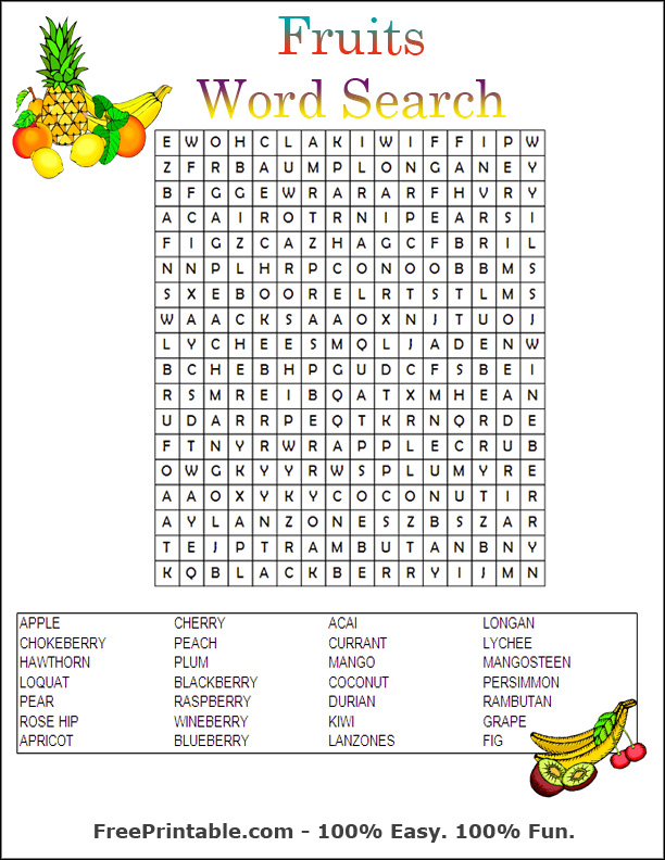 Extra Large Print Word Search | Search Results | Calendar 2015