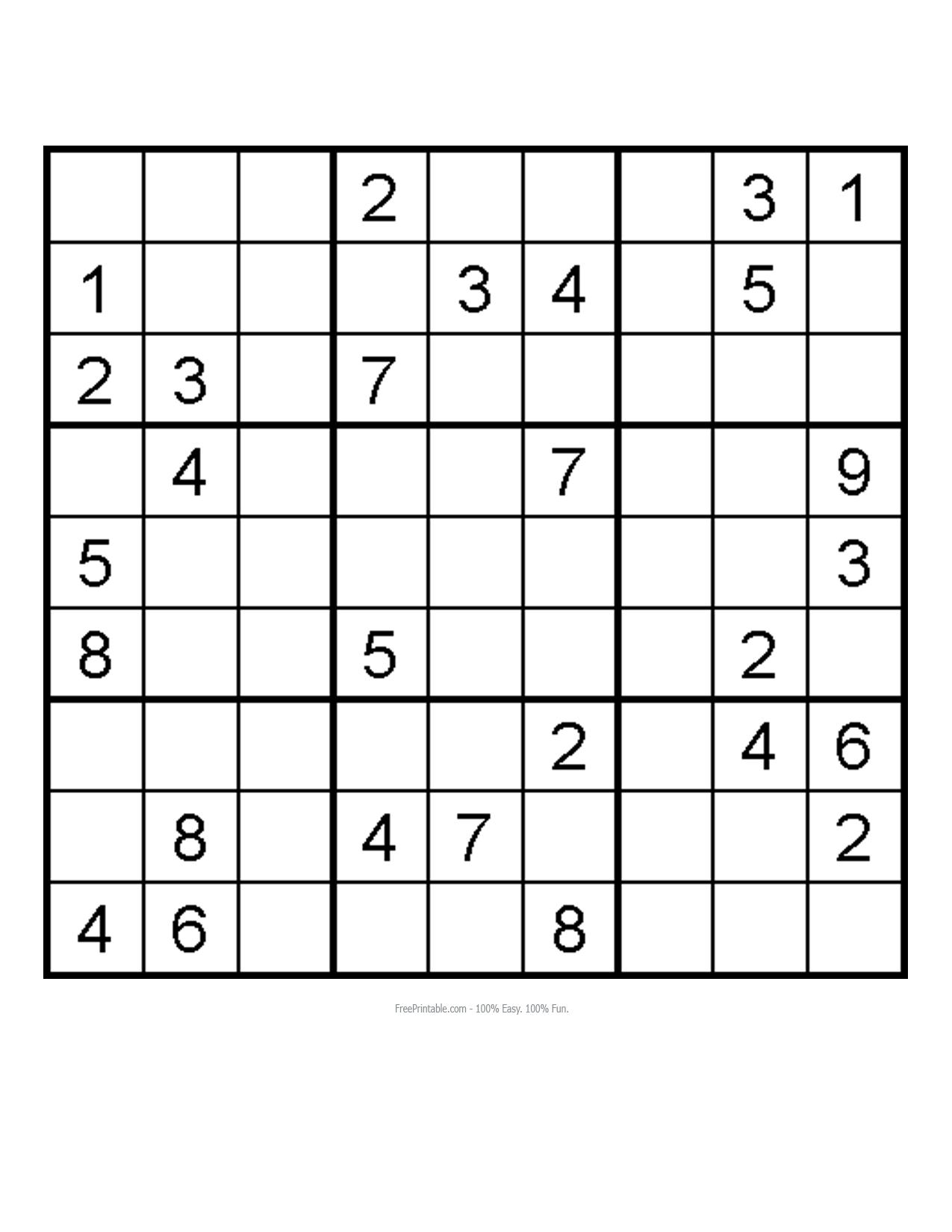 Free Medium Printable Sudoku | HAIRSTYLE GALLERY