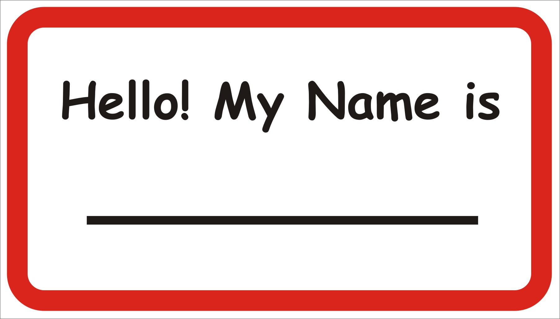 Free printable name tag for Free name badge template