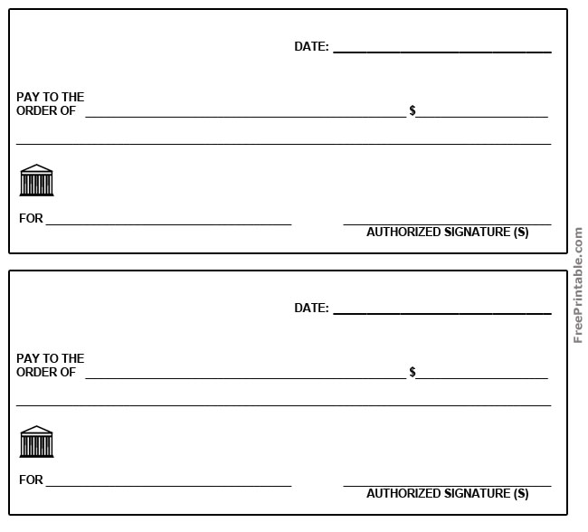 printable check template - Acur.lunamedia.co