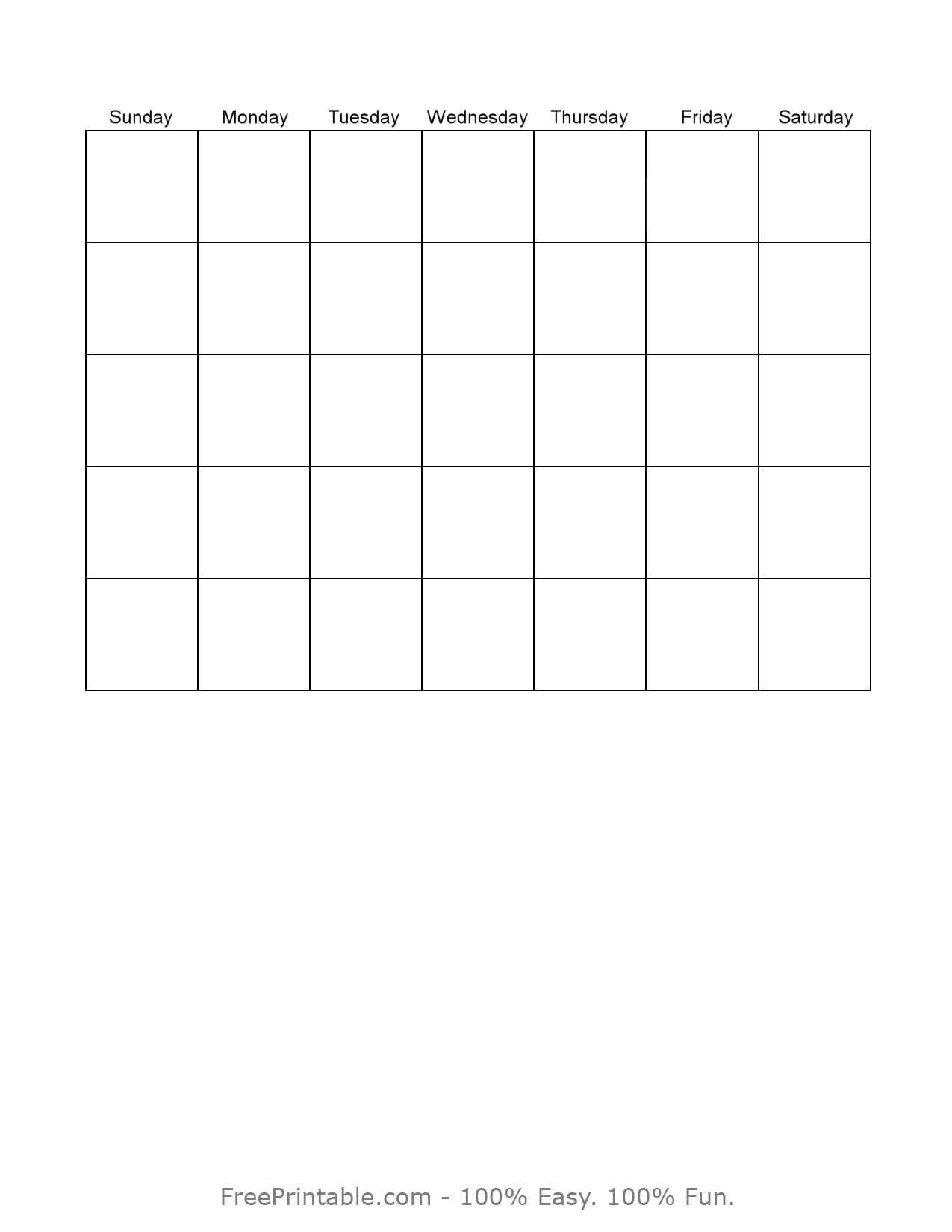... jpeg 56kB, Plain Monthly Calendar Printable | Calendar Template 2016