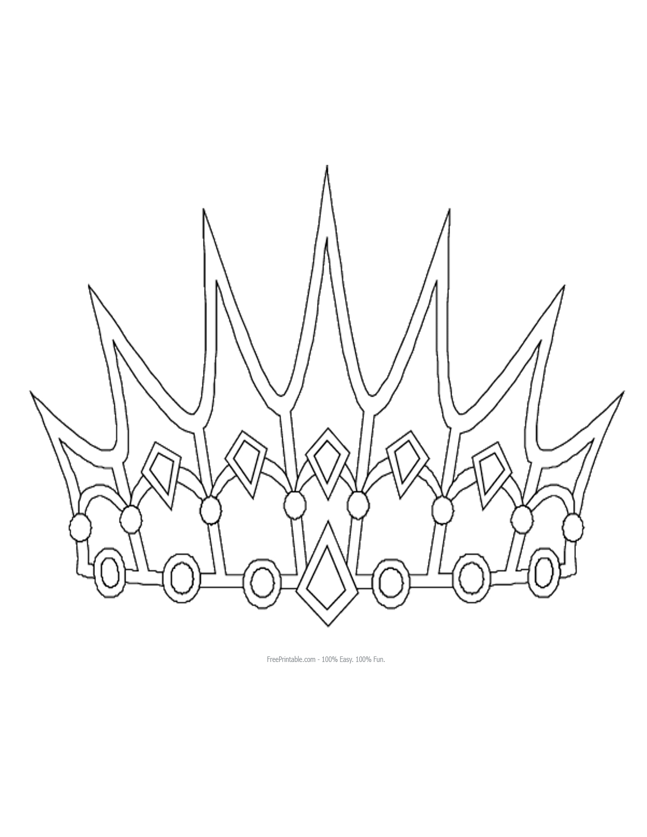 free printable tiara template - princess crown pattern pelautscom tattoo tattooskid