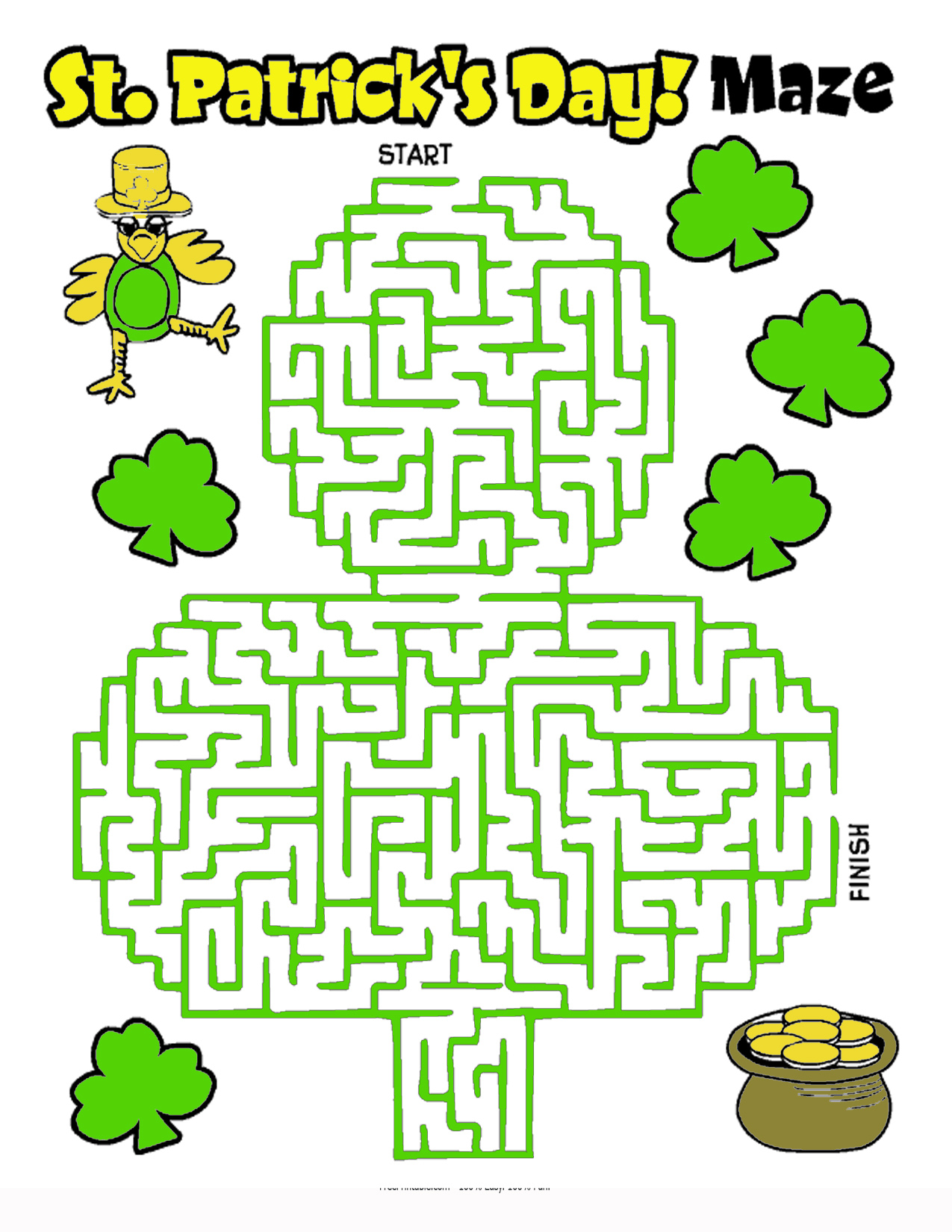 St. Patrick's Day Maze Images & Pictures - Findpik
