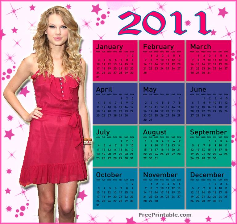 Taylor Swift 2012 Calendar Taylor Swift 2011 Calendar