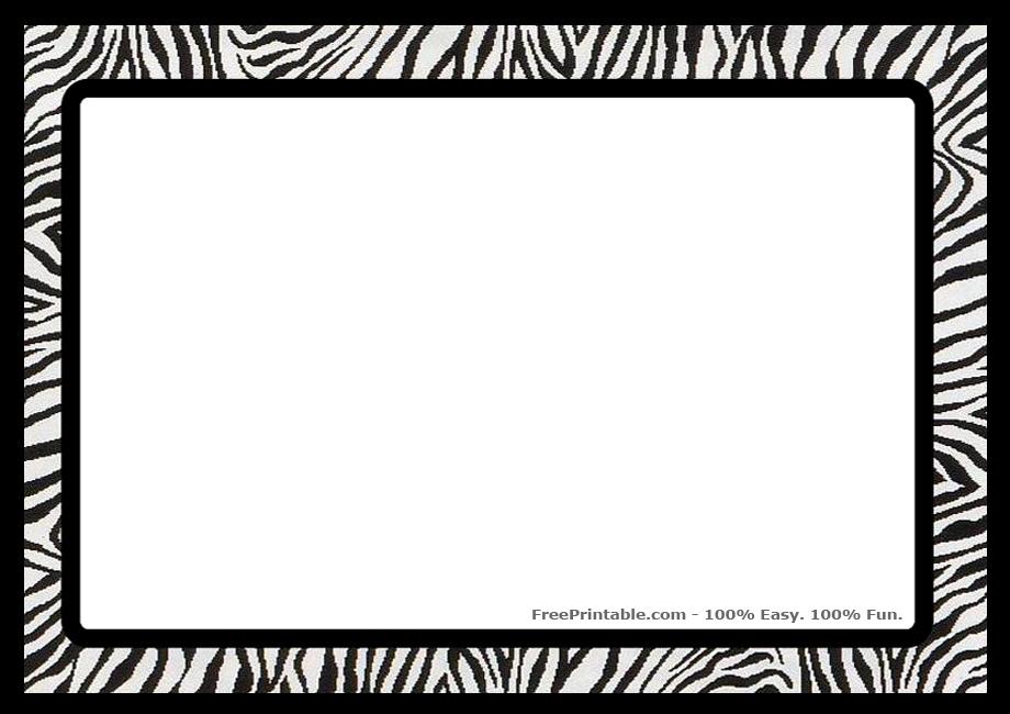 920 x 650 · 183 kB · jpeg, Zebra Print Border Clip Art Free