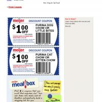 Meijer $1 Off on Purina Chow