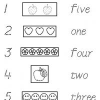 Printable 1 to 5 Trace and Match - Free Printable Math Worksheets - Free Printable Worksheets