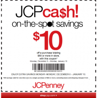 $10 Off $50 at JCPenney