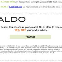 Aldo 10% Off