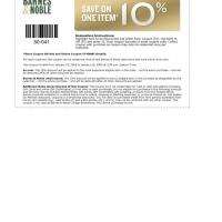 Printable Barnes & Nobles 10% Off - Printable Discount Coupons - Free Printable Coupons