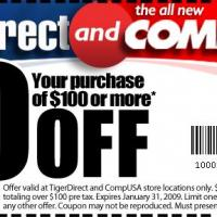 Tiger Direct & Comp USA$10 Off on $100 Purchase