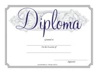 Elegant Blue Diploma