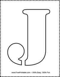 Letter J Stencil