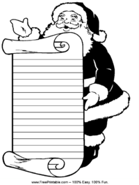 Santa Handwriting Paper