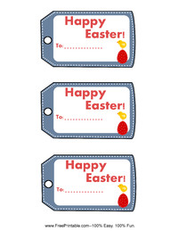 Easter Chick Gift Tag