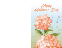 Mother's Day Orange Flower Card