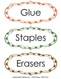 Classroom Labels Glue