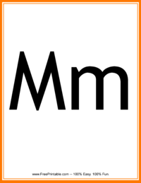 Flash Card Letter M