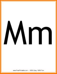 Flash Card Letter M