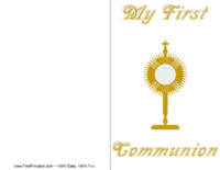 Gold First Communion Invitation