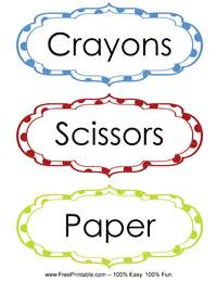 Classroom Labels Crayons