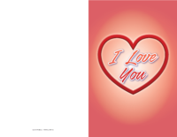 Heart Love Valentine Card
