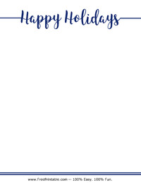 Happy Holidays Stationery