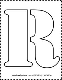Letter R Stencil