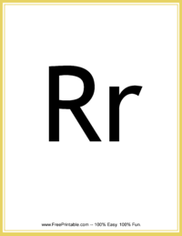 Flash Card Letter R