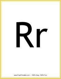 Flash Card Letter R