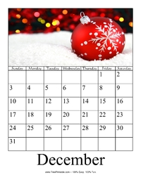 December 2017 Photo Calendar