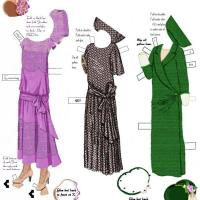 Printable 1920s Paper Evening Dress - Printable Fun - Free Printable Activities