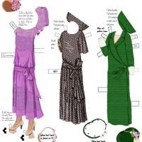 1920s Paper Evening Dress