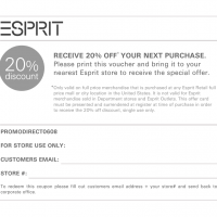 Printable 20% Off at ESPRIT - Printable Discount Coupons - Free Printable Coupons
