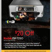 Printable $20 Off Kodak ESP-7250 All in One Printer at Best Buy - Printable Discount Coupons - Free Printable Coupons