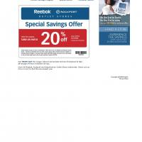 Rockport 20% Off on Rebook Items